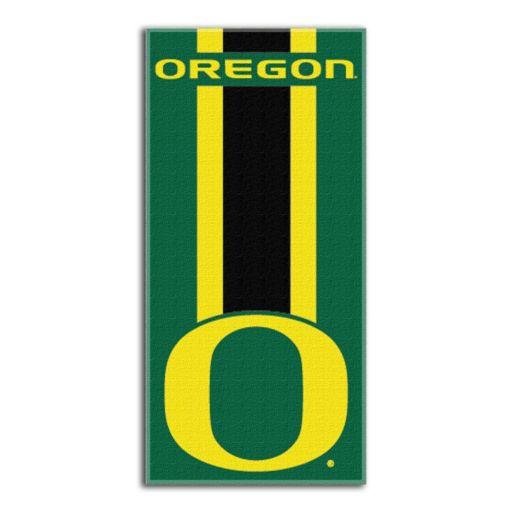 Oregon Ducks Zone Beach Towel