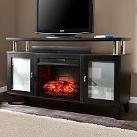Liddell Infrared Electric Fireplace TV Stand