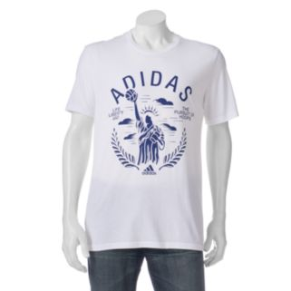 """Big & Tall adidas """"Life Liberty and the Pursuit of Hoops"""" Performance Tee"""