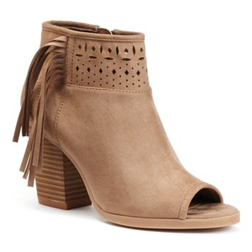 SO® Women's Laser-Cut Ankle Boots
