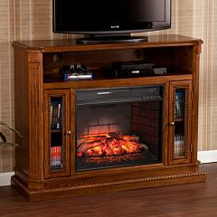 Devlin Infrared Electric Fireplace TV Stand
