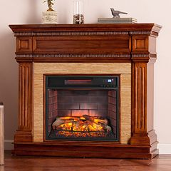 Allison Faux Stone Infrared Electric Fireplace