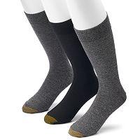 Extended Size GOLDTOE 3-pack Freshcare Crew Socks