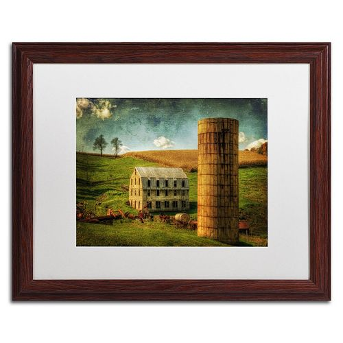 """Trademark Fine Art """"His Pride and Joy"""" Matted Wood Finish Framed Wall Art"""
