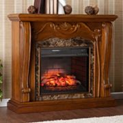 Auden Carved Pillar Infrared Electric Fireplace