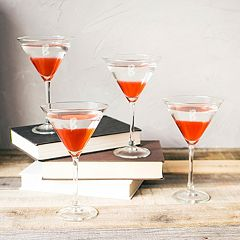 Cathy's Concepts 4 pc Monogram Spooky Martini Glass Set