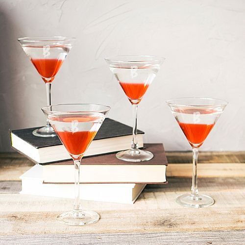 Cathy's Concepts 4-pc. Monogram Spooky Martini Glass Set