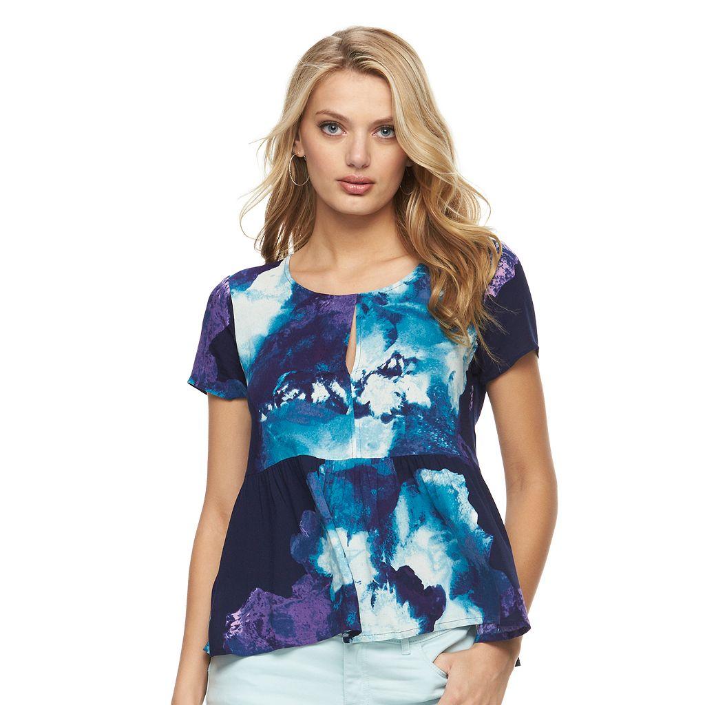 Women's Juicy Couture Floral Peplum Tee