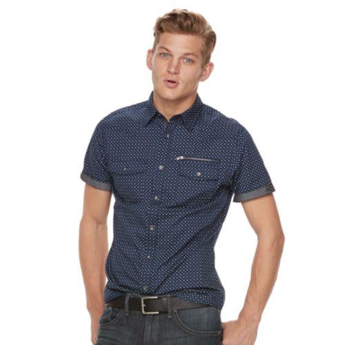 Men's Rock & Republic Print Button-Down Shirt