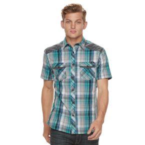Men's Rock & Republic Plaid Woven Button-Down Shirt