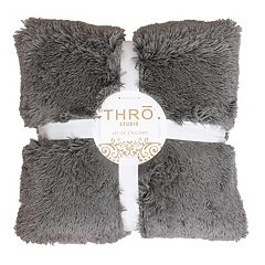 Thro by Marlo Lorenz 2-pack Chubby Faux-Fur Throw Pillow