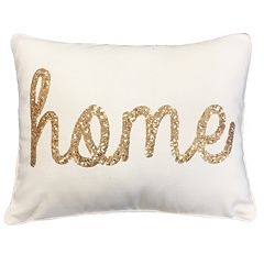 Thro by Marlo Lorenz Sequin Cursive Throw Pillow