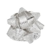 Textured Holiday Bow Stretch Ring