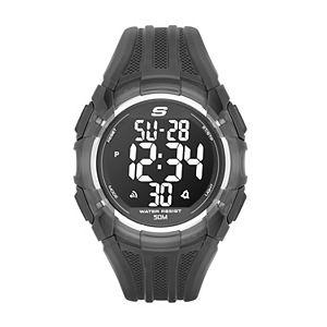 Skechers Men's El Porto Black Silicone Watch