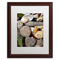 Trademark Fine Art 'Petoskey Stones ll' Matted Wood Finish Framed Wall Art