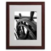 "Trademark Fine Art ""Masterful Guidance"" Matted Wood Finish Framed Wall Art"