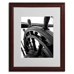 Trademark Fine Art 'Masterful Guidance' Matted Wood Finish Framed Wall Art