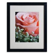 Trademark Fine Art 'Snug Blossom' Matted Black Framed Wall Art