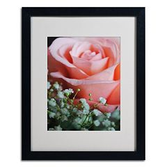 Trademark Fine Art 'Snug Blossom' Matted Black Framed Wall Art