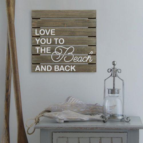 "Stratton Home Decor ""Love You"" Wood Wall Decor"