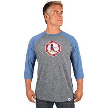 Men's Majestic St. Louis Cardinals Cooperstown Raglan Tee