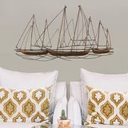 Stratton Home Decor Metal Sailboats Wall Decor