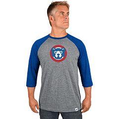 Men's Majestic Chicago Cubs Cooperstown Raglan Tee