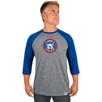 Men's Majestic Chicago Cubs Cooperstown Raglan Tee