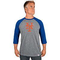 Men's Majestic New York Mets Cooperstown Raglan Tee