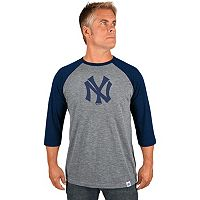 Men's Majestic New York Yankees Cooperstown Raglan Tee