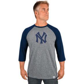 Men's Majestic New York Yankees Cooperstown Raglan Tee