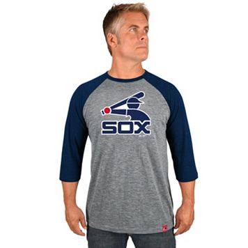 Men's Majestic Chicago White Sox Cooperstown Raglan Tee