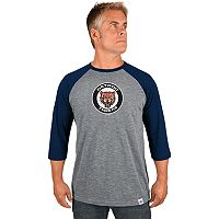 Men's Majestic Detroit Tigers Cooperstown Raglan Tee