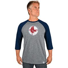 Men's Majestic Boston Red Sox Cooperstown Raglan Tee