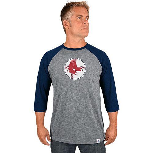 Men's Majestic Boston Red Sox Cooperstown Raglan Tee