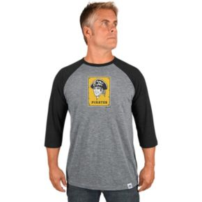 Men's Majestic Pittsburgh Pirates Cooperstown Raglan Tee