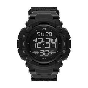 Skechers Men's Keats Black Nylon Strap Chronograph Watch