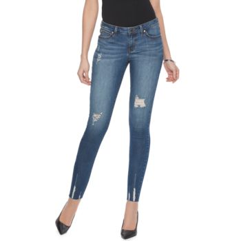 Women's Jennifer Lopez Destructed Skinny Ankle Jeans