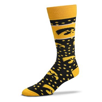 Adult For Bare Feet Iowa Hawkeyes Dot Band Crew Socks