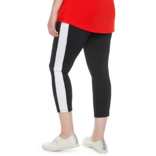 madden NYC Juniors' Plus Size Colorblock Capris