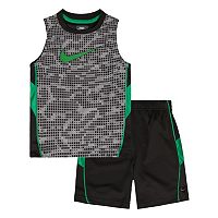 Toddler Boy Nike Swoosh Muscle Tank & Shorts Set