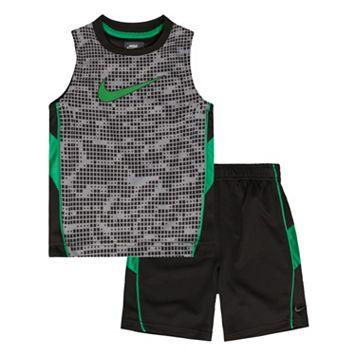 Toddler Boy Nike Swoosh Muscle Tank & Shorts Set
