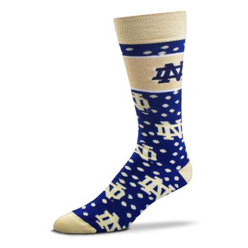 Adult For Bare Feet Notre Dame Fighting Irish Dot Band Crew Socks