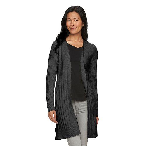 Women's Croft & Barrow® Textured Long Cardigan