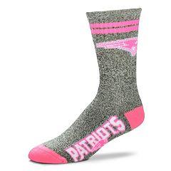 Adult For Bare Feet New EnglandPatriots Two Stripe Crew Socks
