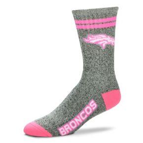 Adult For Bare Feet Denver Broncos Two Stripe Crew Socks