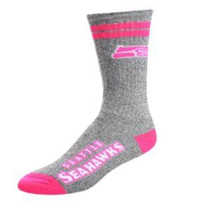 Adult For Bare Feet Seattle Seahawks Two Stripe Crew Socks
