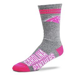 Adult For Bare Feet Carolina Panthers Two Stripe Crew Socks