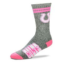 Adult For Bare Feet Indianapolis Colts Two Stripe Crew Socks