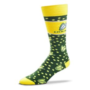 Adult For Bare Feet Oregon Ducks Dot Band Crew Socks